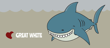 great white: Love Great white. Cute funny looking Great white shark