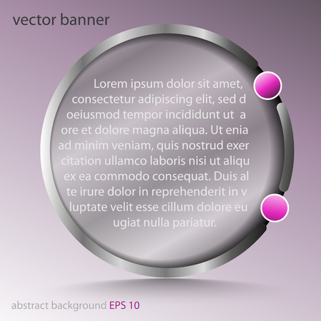 colon: Banner with abstract round transparent with a colon - for background, design, web design ...
