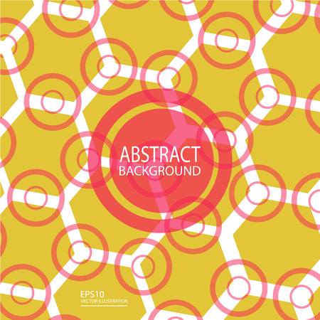 Abstract geometric background vector from circles and polygons for screen saver, banner