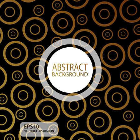 黒い幾何学的な抽象的な背景のスクリーン セーバーのための黄色の円からバナー