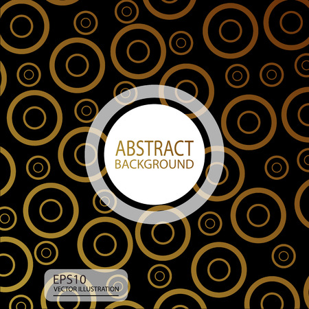 Abstract black geometric background vector from circles yellow for screen saver, banner