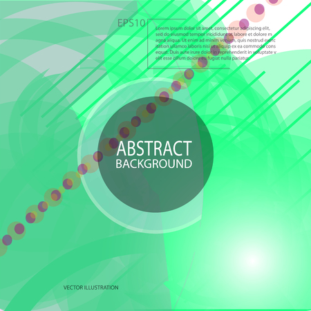 Abstract geometric green background vector for screen saver, banner