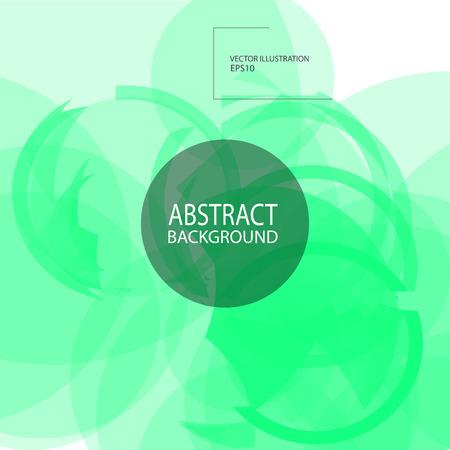抽象的な幾何学的な緑背景スクリーン セーバーのバナー.  イラスト・ベクター素材