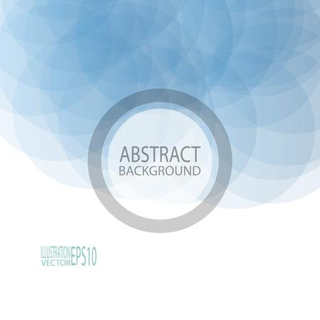 抽象的な幾何学的な背景、スクリーン セーバーの青い円からバナー.