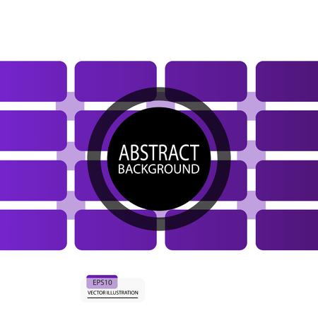 正方形から幾何学的な抽象的な背景とスクリーン セーバーの紫の四角形バナー