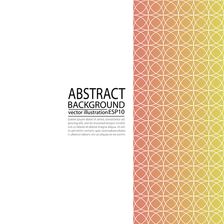 Abstract geometric background red and yellow of circles for screen saver, banner, paper ... 向量圖像