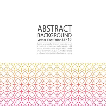 赤と黄色のスクリーン セーバー, バナー, 紙の円の幾何学的な抽象的な背景.  イラスト・ベクター素材