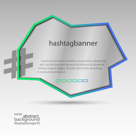 Hashtag banner abstract