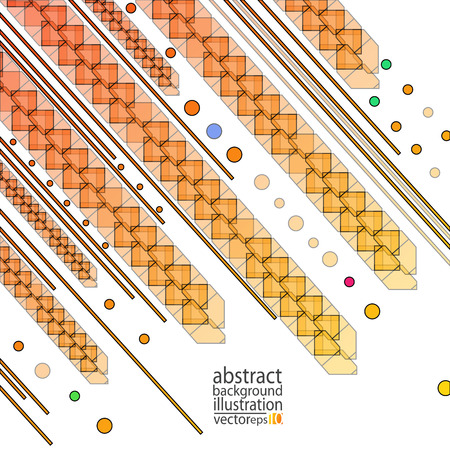 Abstract geometrical shapes in repetitive pattern forming lines and strips. Ilustrace