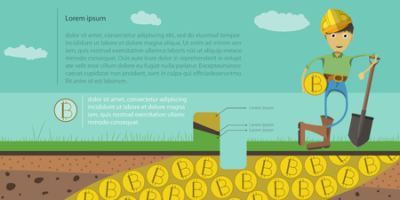 A geologist who was found a gold mine and produced bitcoin