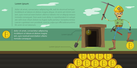 Miner, who extracts bitcoin from the ground