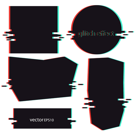 Glitch effect-background for banner black vector
