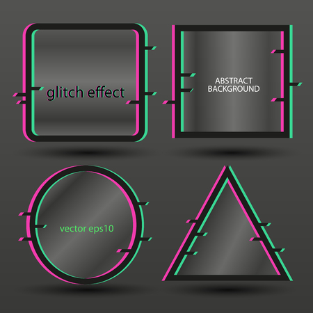 Glitch effect-background for banner transparent vector