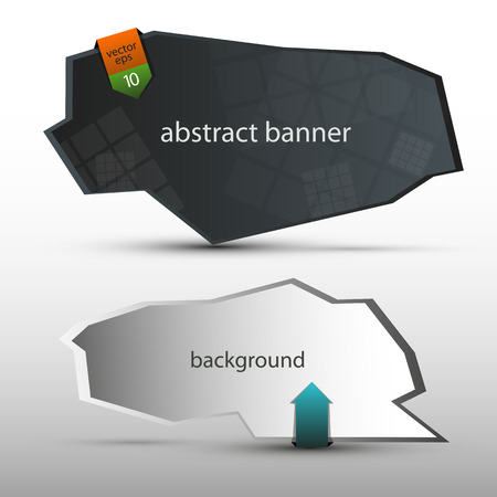 Abstract geometric banners with arrows - vector Ilustração