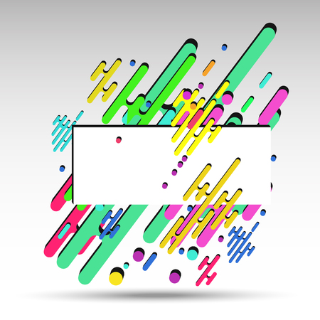 3d geometrically abstract background, for banner - vector eps10. Illustration
