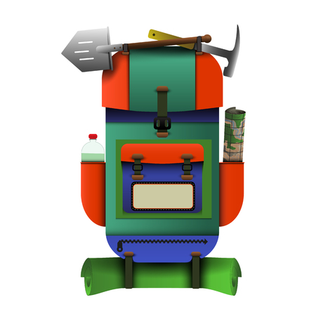 The backpack is built for travel - vector EPS 10 Stock fotó