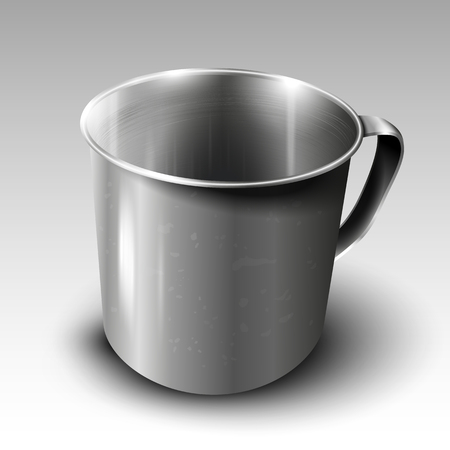 Metal mug - illustration
