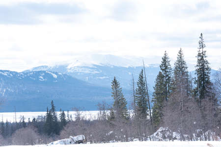 Winter landscape. Winter mountain. Winter holidays. Ural mountain. Banque d'images