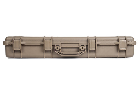 foam safe: Machine gun box Soft Secure Storage Case in isolated Stock Photo