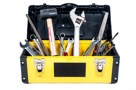 tool: Garage tool box work in isolated