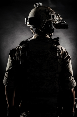 army face: soldier man back fashion