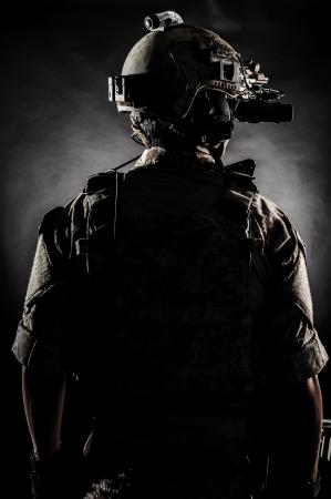 subordinate: soldier man back fashion