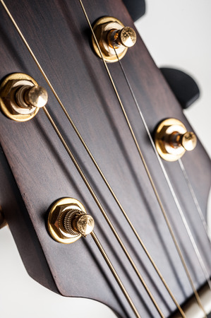 wood staves: classical acoustic guitar on closeup