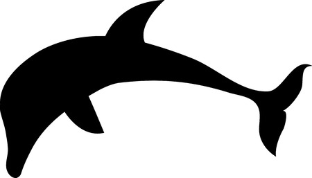 isolated dolphin silhouette on white background Vector