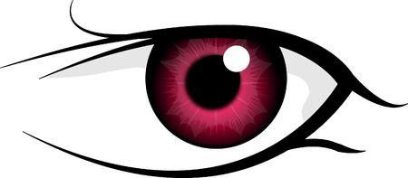 Red eye isolated on white background Stock Photo - 3963955