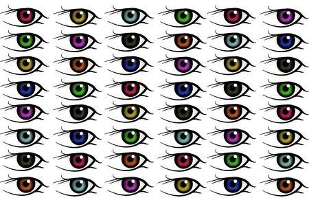 shinning: eye background