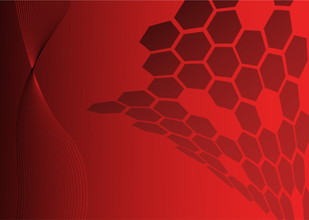red abstract technical background with special elements Vector