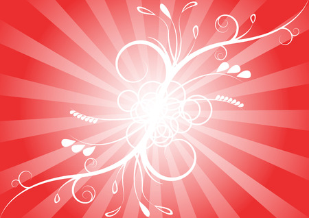simple red abstract floral background Vector
