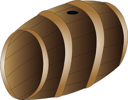 Brown Barrell Vector