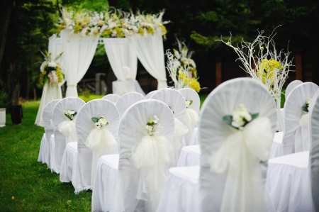 wedding ceremony, everything is ready Stock Photo