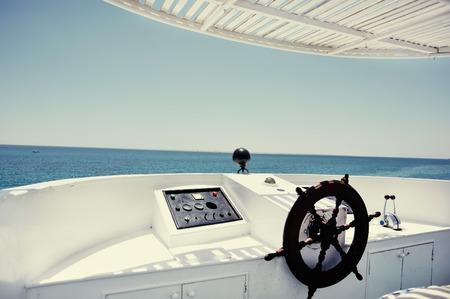 boat in sea, hot summertime