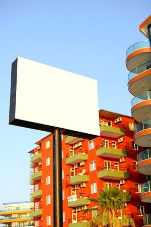 adds: Blank board for adds outside. Empty street billboard.