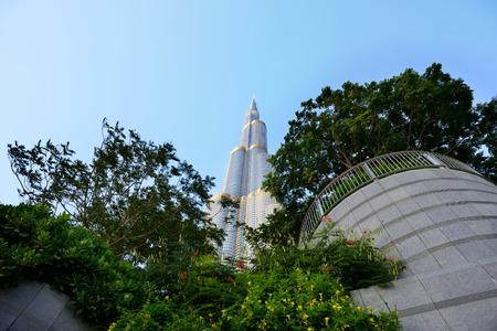 at the highest: Burj Khalifa famous highest building in the world, Dubai