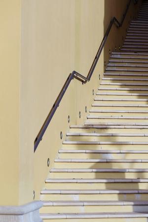 stone stairs: Stone stairs in Dubai Marina. Stock Photo