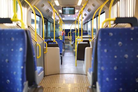 liner transportation: Route bus in Dubai. Stock Photo