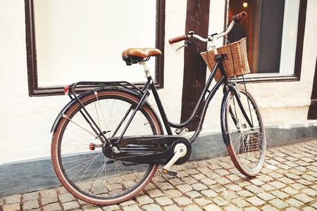 Bicycle in the Aalborg, Denmark.  Active lifestyle