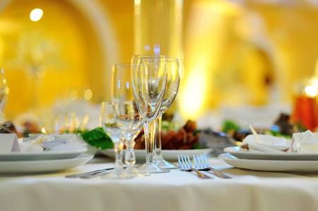 wedding banquet in restaurant