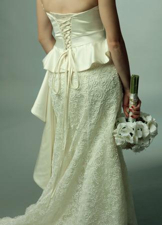 fiancee: Fiancee is ready for wedding, gorgeous  hair style, studio shot.