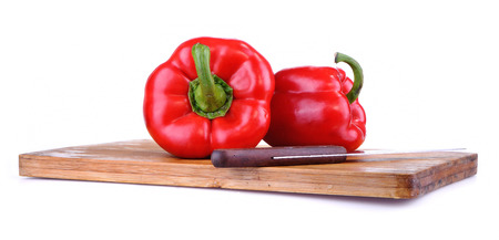 red bell pepper: Red Bell Pepper, Isolated On White background