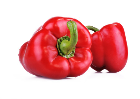 food state: Red Bell Pepper, Isolated On White background