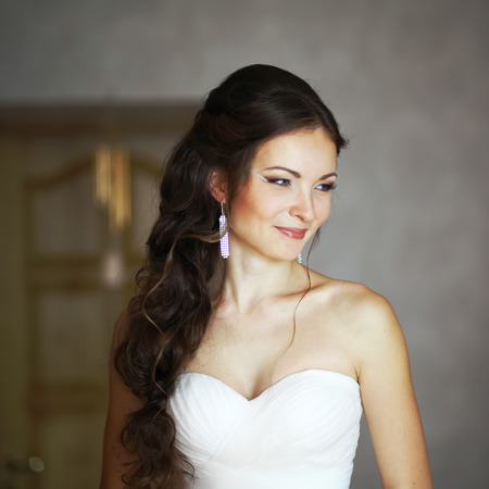 nuptial: young caucasian bride Stock Photo
