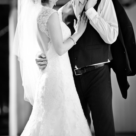 anillo de boda: juntos para siempre y nunca aparte, pareja de reci�n casados