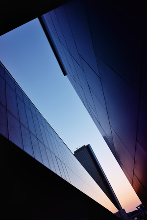 building exterior: beautiful geometry of  modern buildings Stock Photo