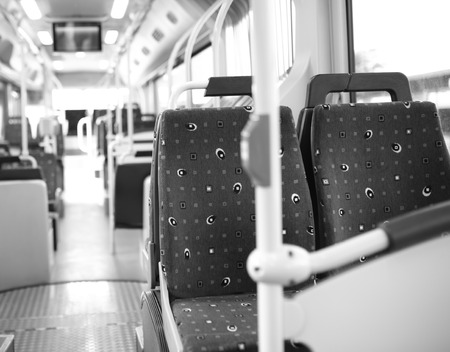 back in an hour: transport seats Stock Photo