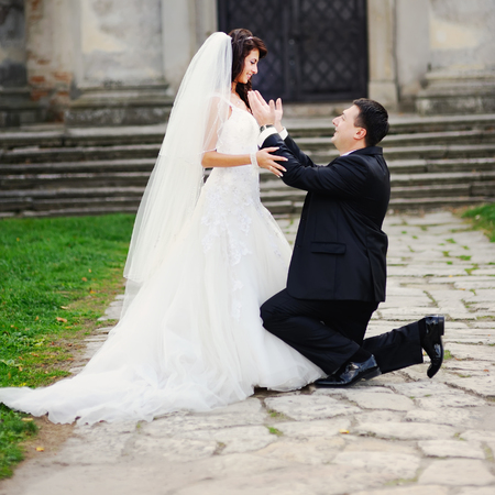 marry: Will You Marry Me ? Wedding photo Stock Photo
