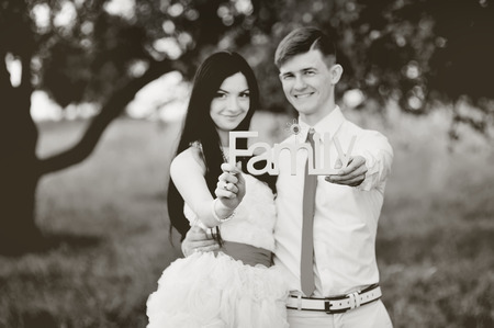 newlywed couple: Family time. Newlywed couple